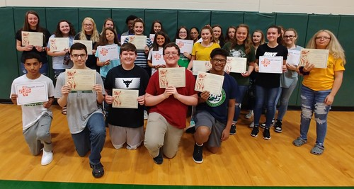 Students earn Red Cross certifications