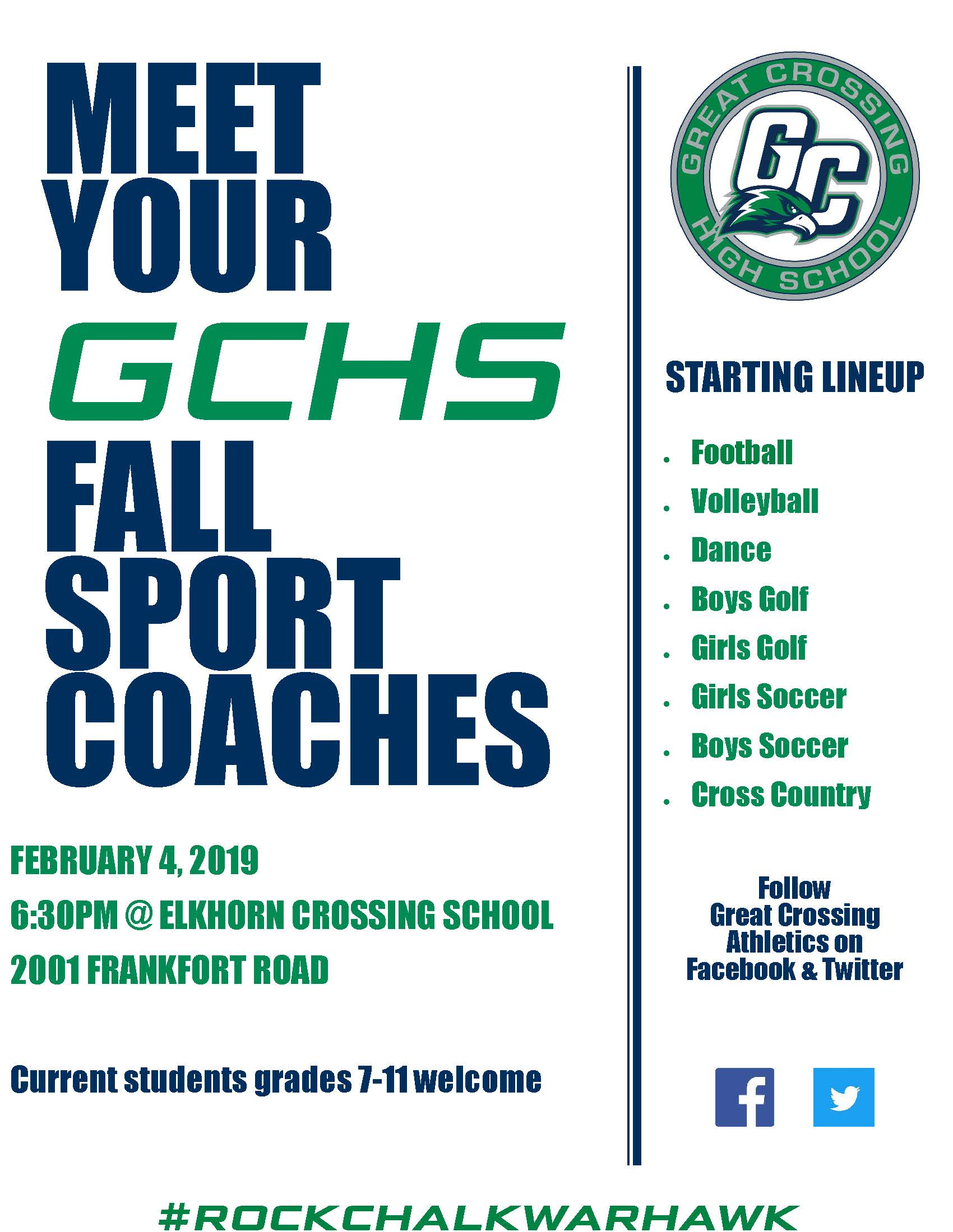 GCHS Fall Coaches Event