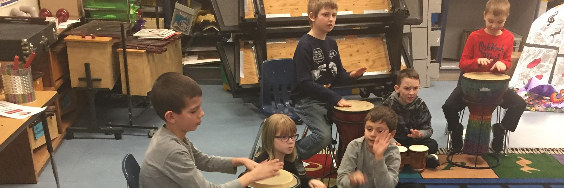 A little lesson on African Drums in Music Class
