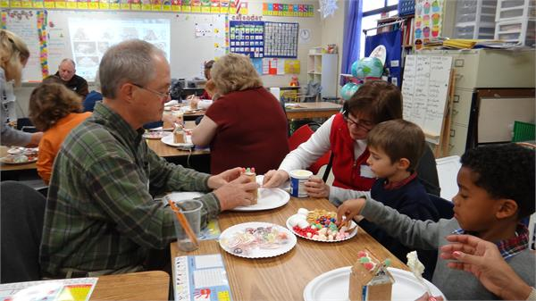 1st Grade Gingerbread House Grandparents Day